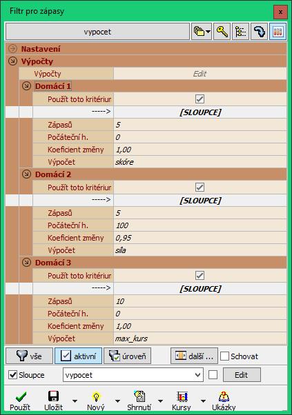 On-line software pro vytváření zápasů