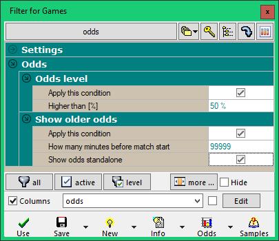 Trefík - software for sport betting
